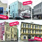 Receiving funds from the Dunedin Heritage Fund are, top row, from left: Taimex Building,...