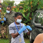 Health checks being carried out in Fiji earlier this year in an effort to combat Covid-19 Photo:...