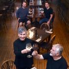 Ready to open after weeks of lockdown are Etrusco owners (clockwise from front left) Meegan, Zane...