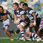 Gareth Evans of Hawke's Bay makes a break during the round five Bunnings NPC, and Ranfurly Shield...