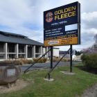 Golden Fleece Hotel in Waikouaiti was closed yesterday, the company that owns it will be taken to...