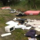 Household items dumped on Kettlewell Dr in the Templeton area during the level 4 lockdown last...