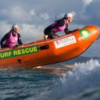 Carla and Steph Laughton head out on their way to the women's mass rescue at the New Zealand IRB...