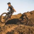 Alexandra mountain biker Cooper Millwood rides at Matangi Station, near Alexandra, which is one...