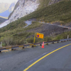 Snow and avalanche debris on the western side of the Homer Tunnel on Wednesday. Photo: Milford...