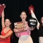 High School Musical cast members (from left) Grace Johnston (17), Charlotte Werner (18) and...