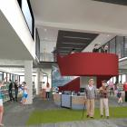 The foyer in the new library in Gore.PHOTO: SUPPLIED