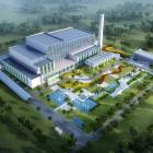 An artist's impression of what a new $350million waste-to-energy plant in the Waimate district...