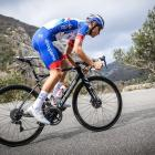 Queenstown cyclist Reuben Thompson in action in France for Groupama-FDJ. PHOTO: SUPPLIED