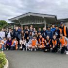 Members of the Otago Student Volunteer Army after doing some garden maintenance at a retirement...