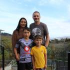Opoho family Cherie and Corey Ford and their sons Nikau (10, left) and Ihaia (6) are grateful for...