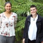 University of Otago genetics researcher Anna Clark (left) and postdoctoral fellow Dr Alana...