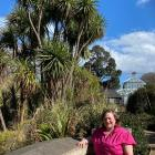 Open Valley Urban Ecosanctuary community engagement co-ordinator Clare Cross admires a cabbage...