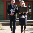 Logan Park High School co-principals Peter Hills and Kristan Mouat were at school yesterday...