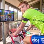 Dunedin pupil Reuben Cook prepares for the Cycling New Zealand virtual tour. PHOTO: SHARRON...