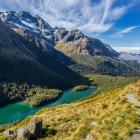 Guided views for the vaxxed: Views like this, from the Routeburn Track of Lake Mackenzie, will...