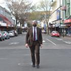Mayor Aaron Hawkins on George St. PHOTO: PETER MCINTOSH