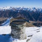 The Ben Lomond plinth and alidade at the summit. PHOTO: SUPPLIED