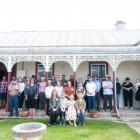 Descendants of Ernest and Hannah Hayes gather at Hayes Homestead at Oturehua yesterday to mark...