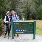 Geoff Chapple and his wife Miriam depart for the Divide on the Routeburn Track. PHOTOS: GEOFF...