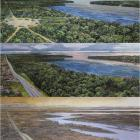 The top image shows a traditional pre-contact Indigenous village (1500CE) with access to the...