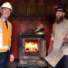 University of Otago property services manager Dean Macaulay (left) and facilities manager Callum...