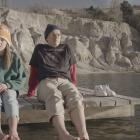 Olivia and Chris Parker in a scene from the film Blue Lake, by Anya Tate-Manning.