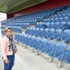 South Otago A&P Society president Bridget Lowry stands in front of an empty Balclutha...