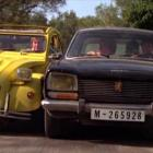 James Bond tries to escape the villains in his trusty yellow Citroen 2CV. PHOTO: SUPPLIED