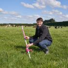 Richard Barton's pasture growth system uses satellite imagery, remote sensors and micro...