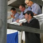 Stern Angus co-owner Rob Fraser likes what he sees at the stud's on-farm yearling sale. PHOTO:...