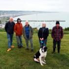 Friends of Oamaru Harbour group members (from left) Linton Winder, Mike Sweeney, Vicki Jayne,...
