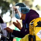 The Christchurch Arena drive-through vaccination clinic will operate until October 31. Photo:...