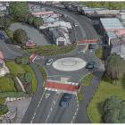 An artist's impression shows the roading layout (below) at the northern end of Green Island,...
