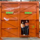 Site Weld NZ owners Steph and Adrian Olsen in an airlock chamber the company has built. PHOTO:...