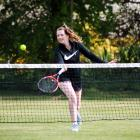 North Otago's Mackenzie Phillips plays a shot during a club singles match in Oamaru at the...
