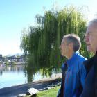 Coastguard Wanaka Lakes unit training co-ordinator David Balls and president Jonathan Walmisley...