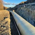 The new Kurow-Duntroon Irrigation Company pipeline, which has been moved below road level, west...