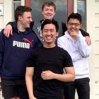 University of Otago business students (clockwise from front) Henry Tran, Max Symon, Luka Didham...