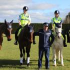 Southern district police's new horseback squad for special occasions (from left) Constable Olivia...