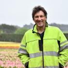 Van Eeden Tulips Production manager John van Eeden PHOTO: LAURA SMITH