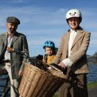 Sartorial style . . . Ready to ride are Dunedin Tweed Ride coorganisers Peter Petchey and Ruth...