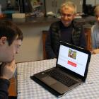 Kevin Geddes enjoys daily learning sessions using software developed by his parents Trevor and...