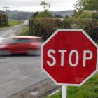 Larger stop signs have been installed by the Dunedin City Council at the intersection of Church...