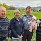 The Trevathan family of Tarras. From left, Beau and Ann Trevathan (third generation), Jonny...