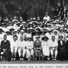 Opening day of the Triangle Tennis Club at George Street School grounds. — Otago Witness, 4.10...