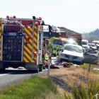 The crash happened just south of Waihola on State Highway 1.  PHOTO: STEPHEN JAQUIERY