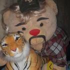 A fluffy Joe Exotic and his pet tiger.  Photo: Alice McDonald
