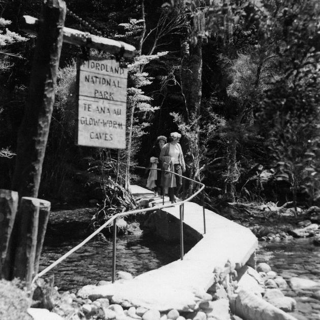 The original walkway built by Wilson Campbell  and Lawson Burrows that leads to the entrance to...