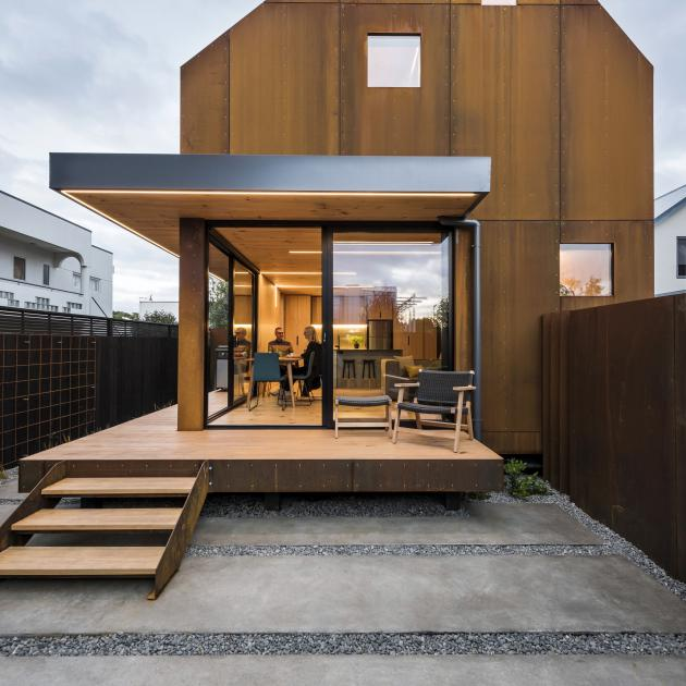 Cor-ten steel, sometimes referred to as weathering steel, and wide-tray corrugated iron are...